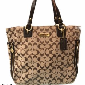 Authentic Coach Gallery Signature Zip Tote